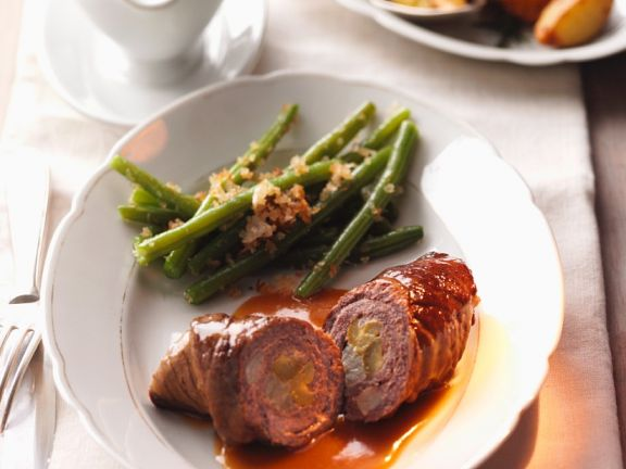 Beef Roulades with Green Beans