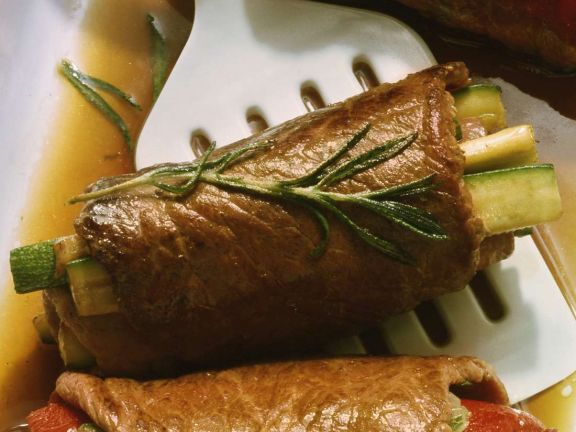 Beef Roulades with Zucchini Filling