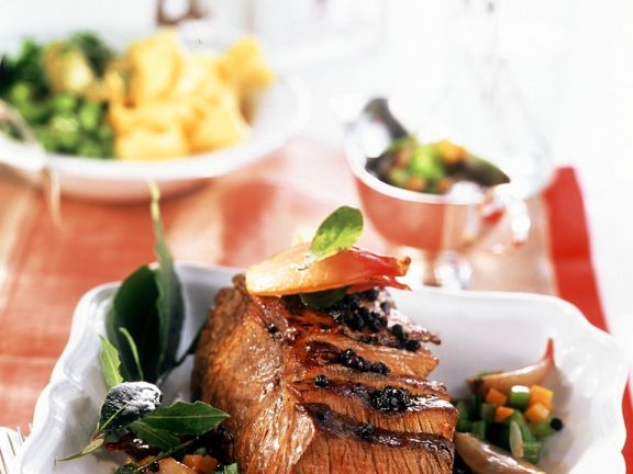 Beef Sirloin with Vegetables