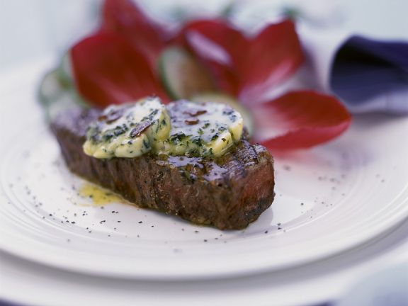 Beef Steaks with Herb Butter