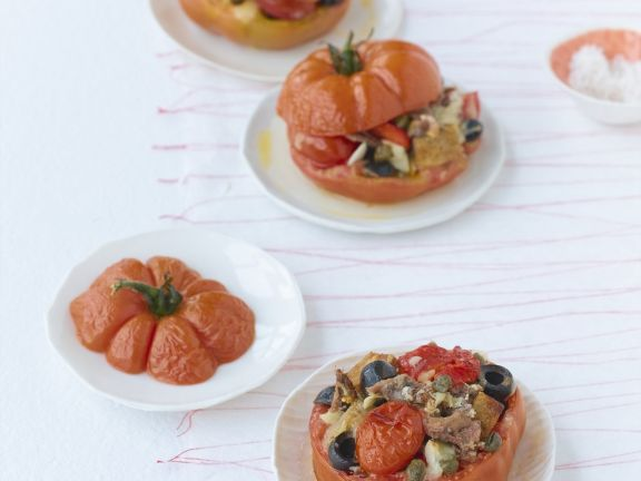 Beefsteak Tomatoes with Vegetable Filling