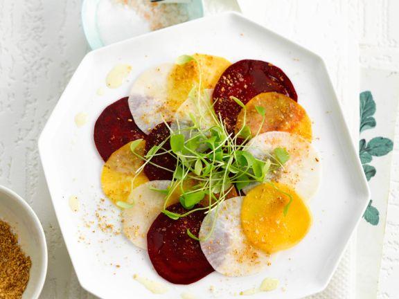 Beet and Daikon Salad