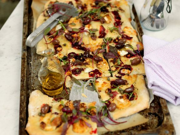 Beet, Goat Cheese and Walnut Flatbread