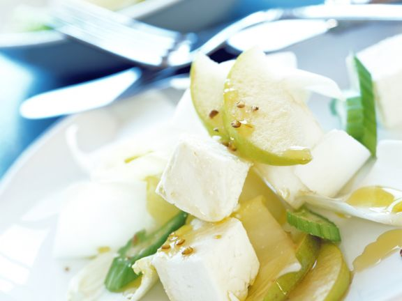 Belgian Endive Salad with Feta Cheese and Pear