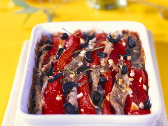 Bell Peppers and Anchovy Gratin