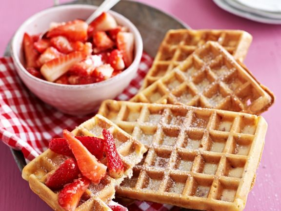 Berry and Coconut Breakfast Waffles