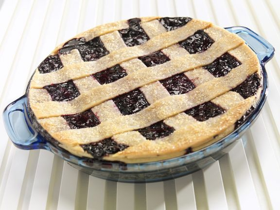 Berry and Criss-cross Pastry Tart