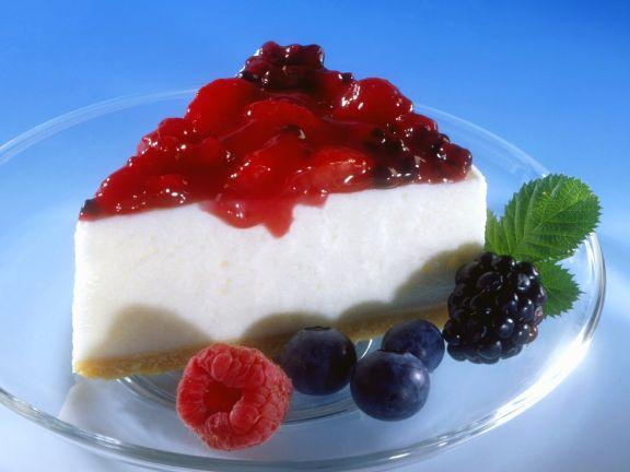 Berry Topped Yogurt Cream Cake