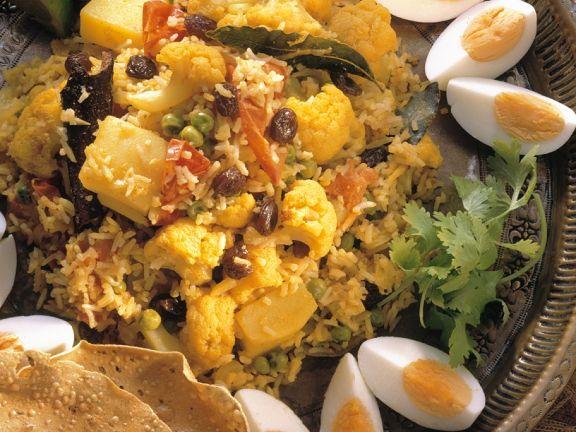 Indian Rice Dish with Garnish