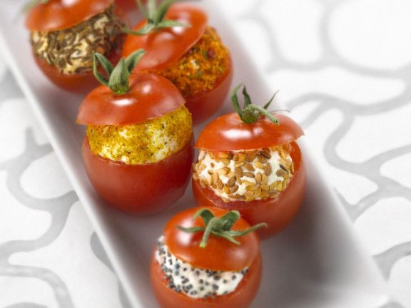 Bite-sized Tomatoes with Fillings