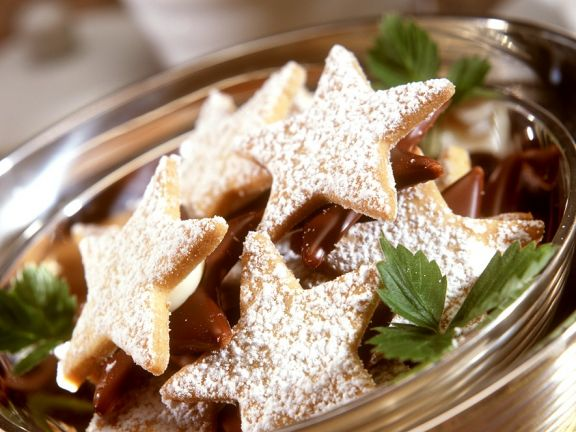 Black and White Star Cookies