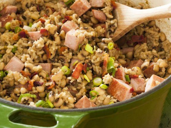 Black-eyed Peas, Ham and Rice Casserole