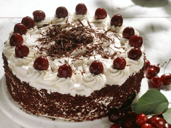 Black Forest Cake with Grated Chocolate