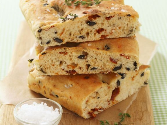 Black Olive And Tomato Italian Bread Recipe Eat Smarter Usa