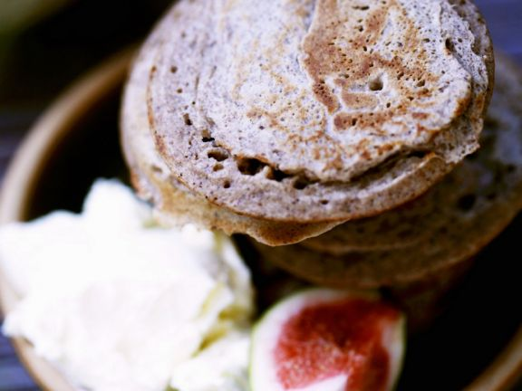 Blini Pancakes with Cream Cheese