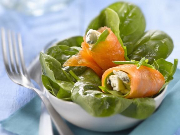 Blue Cheese and Fish Rolls