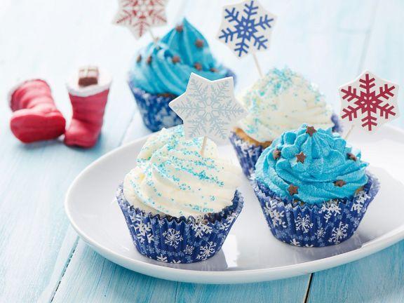Blue Winter Cupcakes