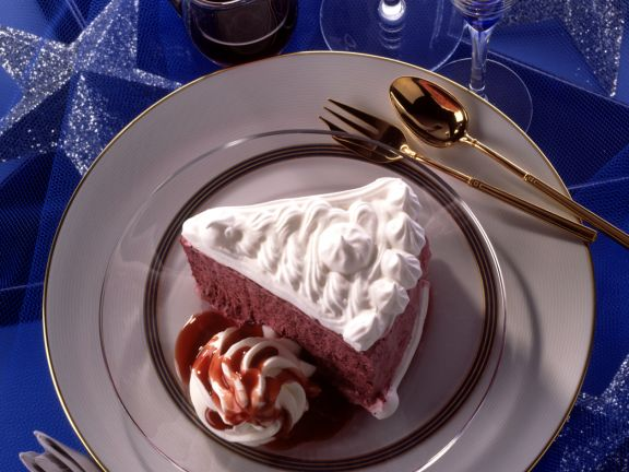 Blueberry Meringue Torte with Cassis Sauce