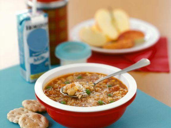 Bowl of Kids Pasta Soup