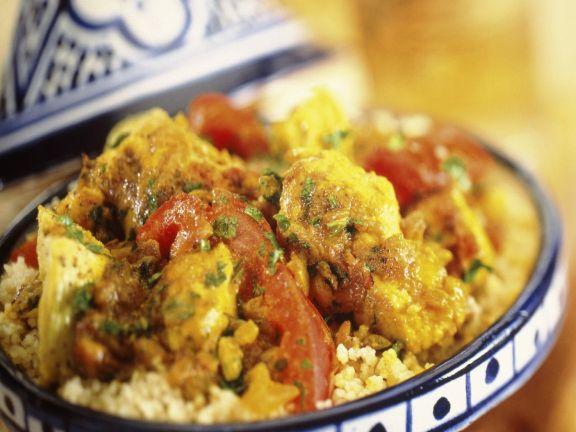Braised North African-style Chicken