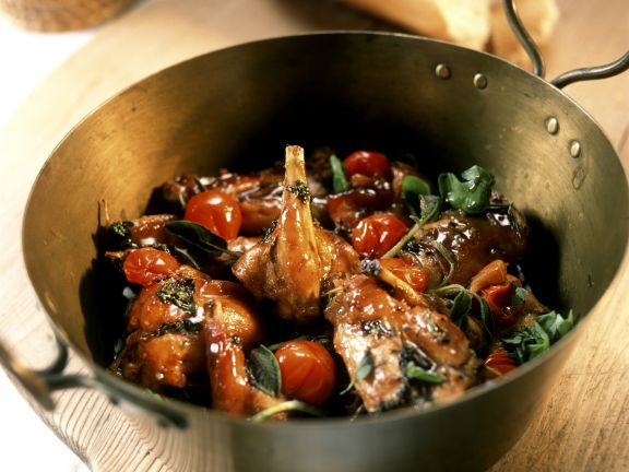 Game Meat Stew with Cherry Tomatoes