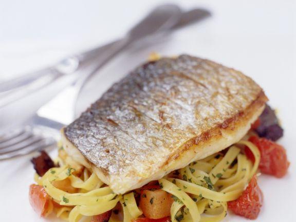 Branzino fillet with pasta recipe eat smarter usa for Branzino fish recipes