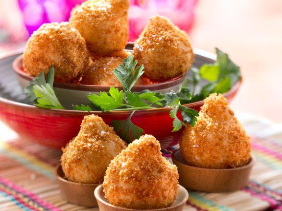 Brazilian Breaded Chicken Croquettes