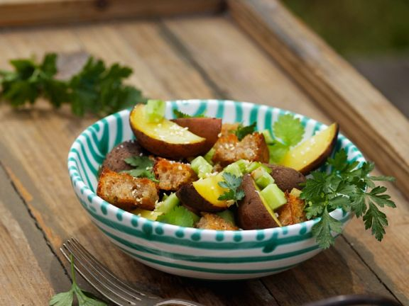 Bread Salad with Baked Potatoes