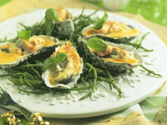 Oysters Au Gratin