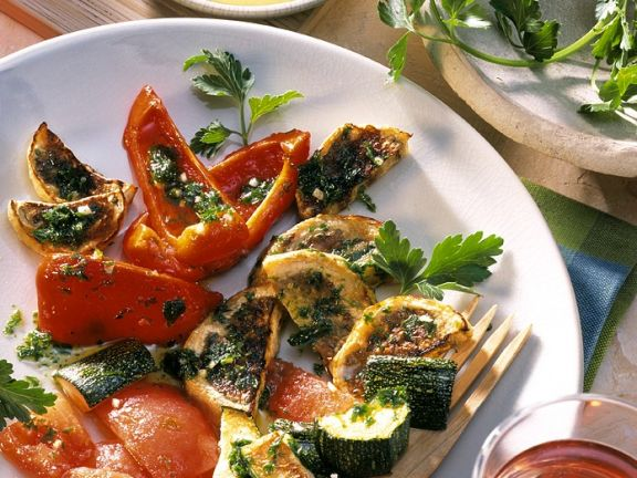 Broiled Vegetables with Garlic Aioli