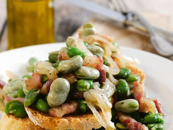 Bruschetta with Broad Beans