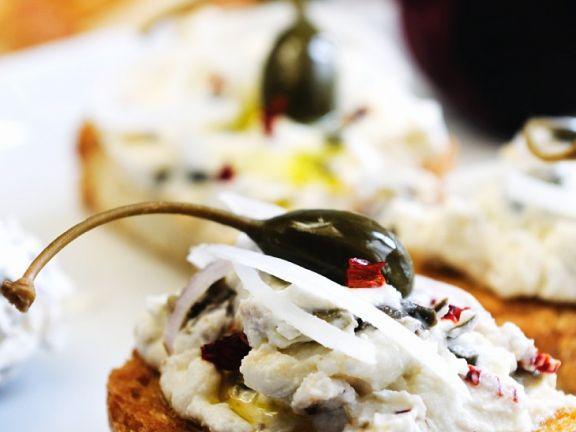 Bruschetta with Ricotta and Capers