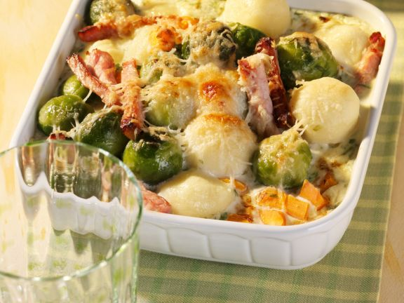 Brussels Sprouts and Carrot Gratin