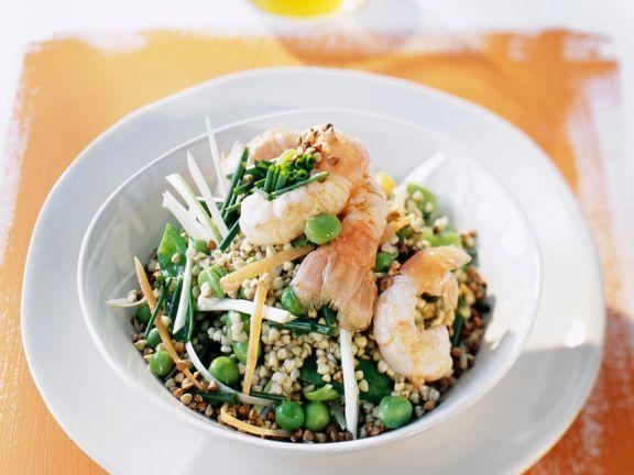 Buckwheat with Peas and Crawfish
