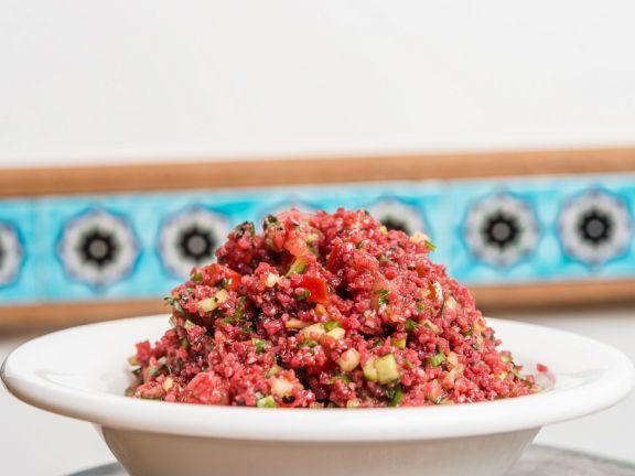 Bulgur Salad with Cherry Juice