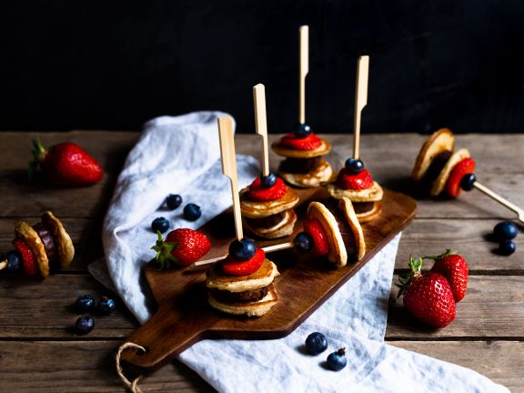 Buttermilk Pancake Skewers with Fruits