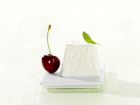 Buttermilk Quark Pudding with Cherries