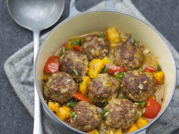 Butternut Squash Chili with Meatballs