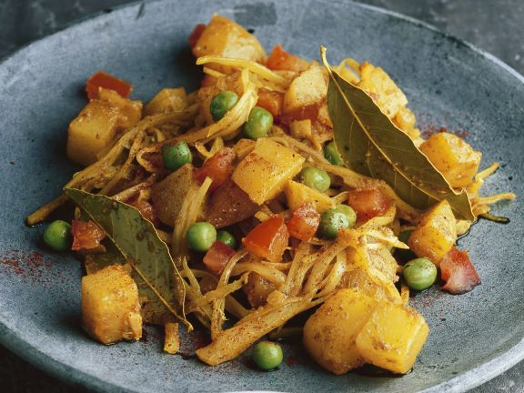 Cabbage and Pea Dry Curry