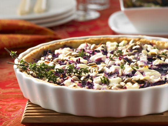 Cabbage Tart with Goat Cheese
