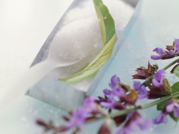 Candied Sage Flowers