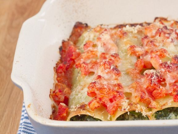Cannelloni with Ricotta and Spinach Filling