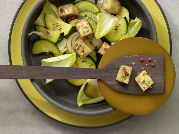 Caramelized Tofu and Zucchini