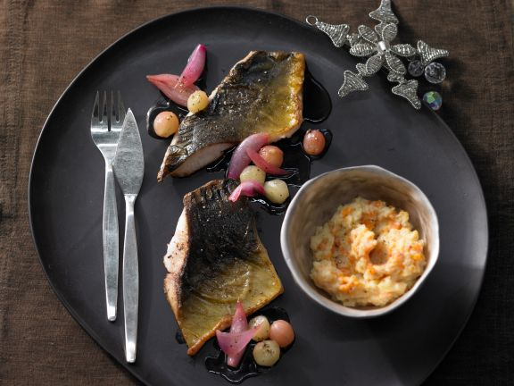 Carp Fillet with Caramelized Grapes