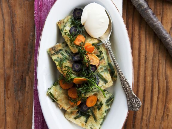 Carrot and Egg Pancakes