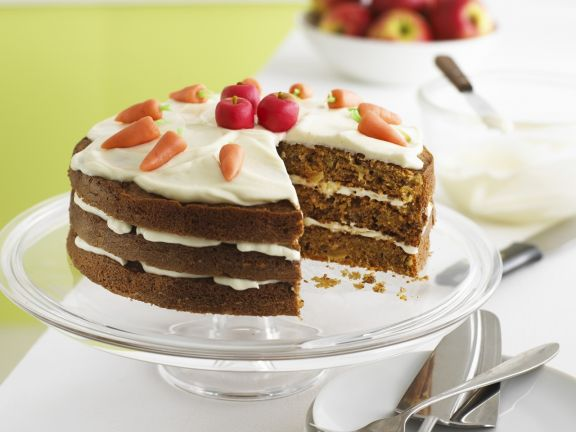 Carrot Apple Layer Cake with Mascarpone Icing