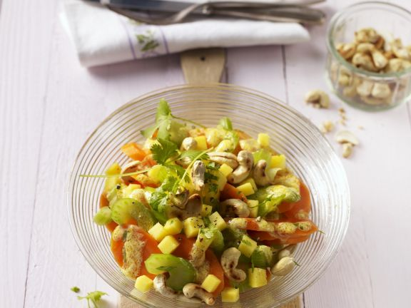 Carrot Salad with Cashew Nuts and Mango
