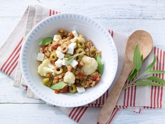 Cauliflower and Tomato Risotto