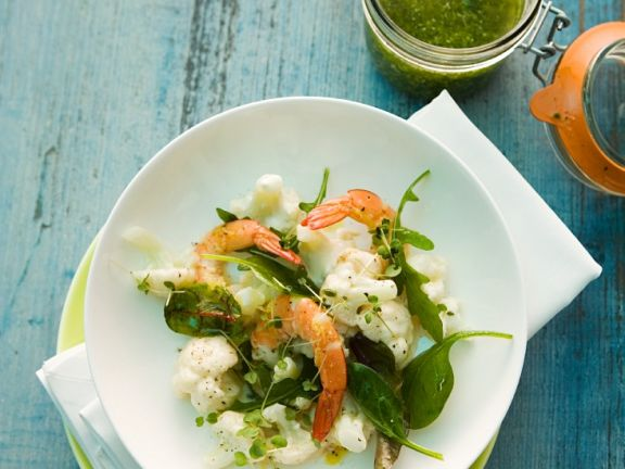 Cauliflower Salad with Shrimp