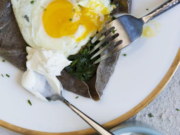 Celiac-friendly Pancakes with Spinach